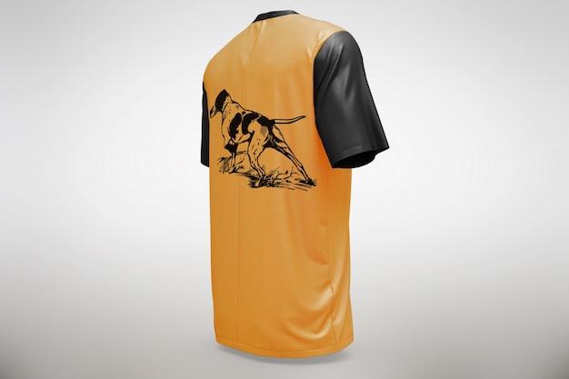 T-shirt de laranja mock up