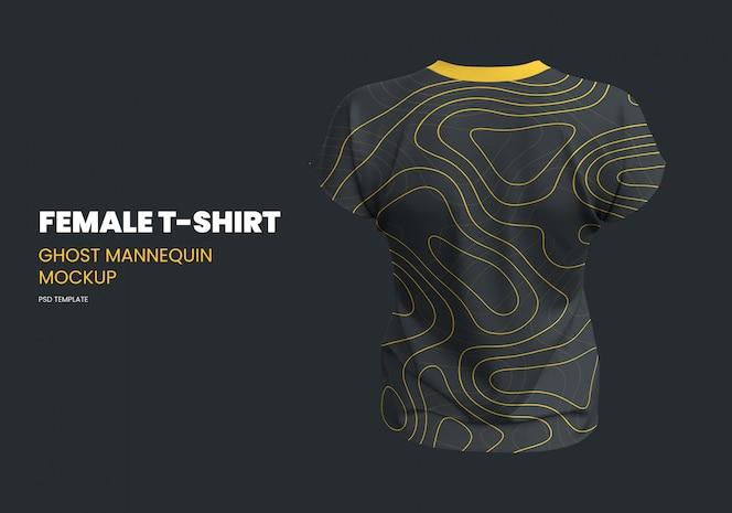 T-shirt feminina fantasma manequim maquete