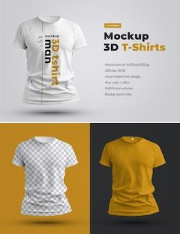 T-shirts mockups 3d
