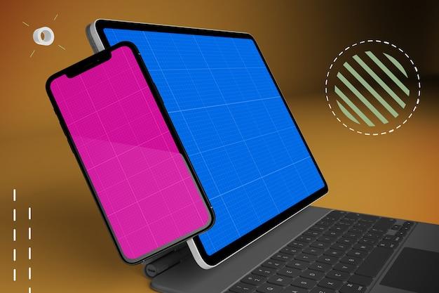 Tablet abstrato & maquete móvel