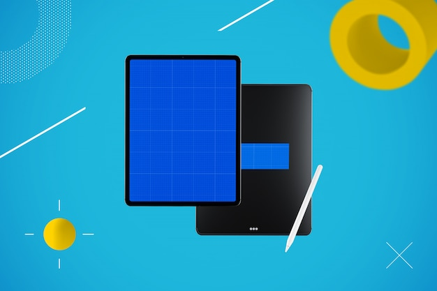 Tablet abstrato mockup
