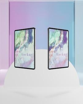Tablet coleção com suporte de vidro