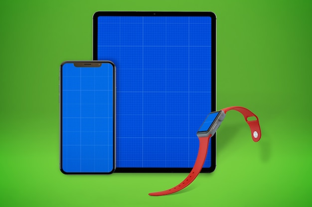 Tablet e assistir maquete