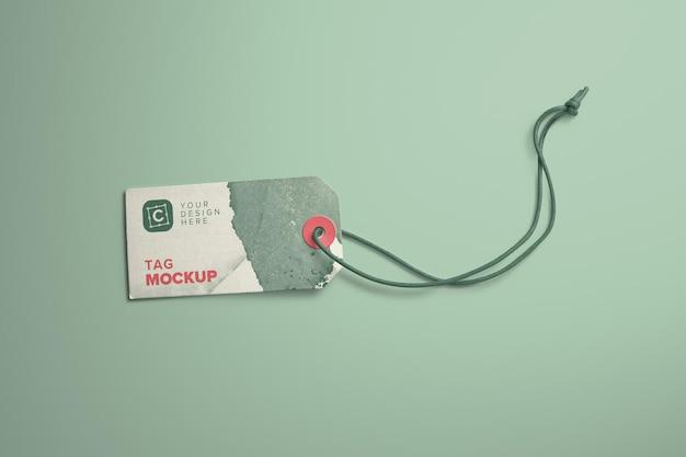 Tag do cartão e modelo de corda