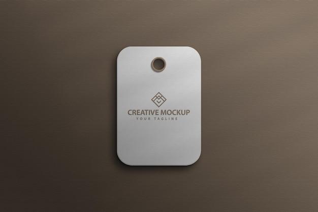 Tag hang tag do produto label mockup photoshop
