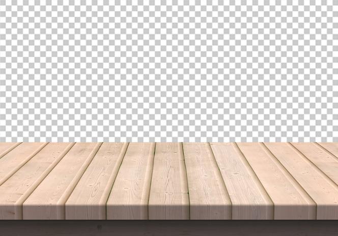Tampo de madeira isolado em transparente