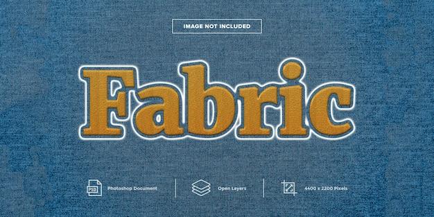 Tecido bordado efeito de texto design camada estilo