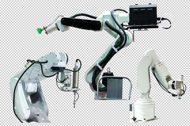 Tecnologia de braço robótico industrial psd