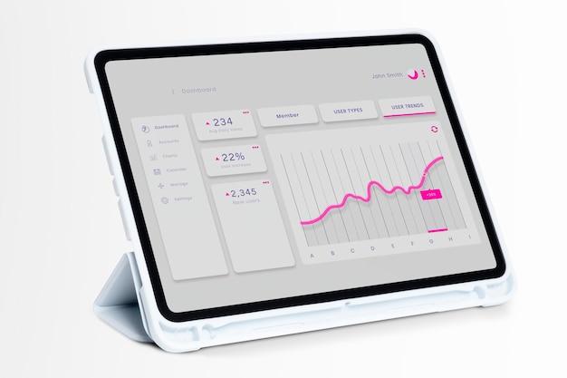 Tecnologia e eletrônicos psd de tablet digital