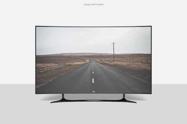 Tela da curva de maquete da smart tv
