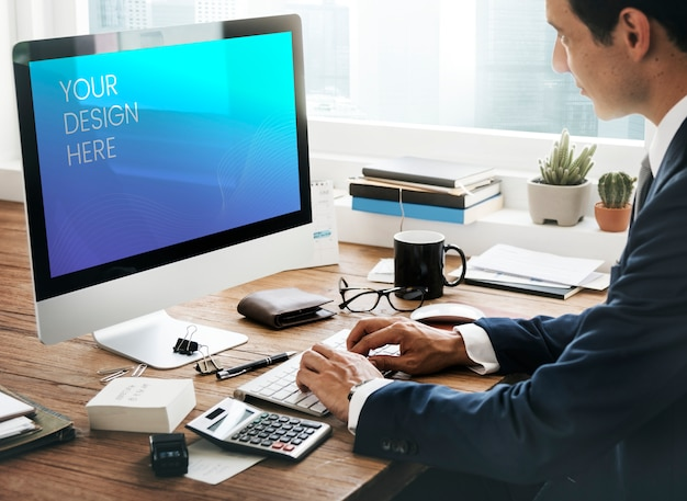 Tela de computador em branco