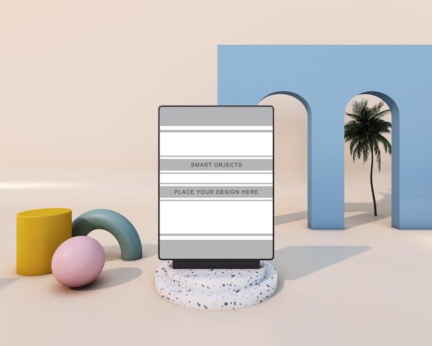 Tela de maquete com design minimalista moderno