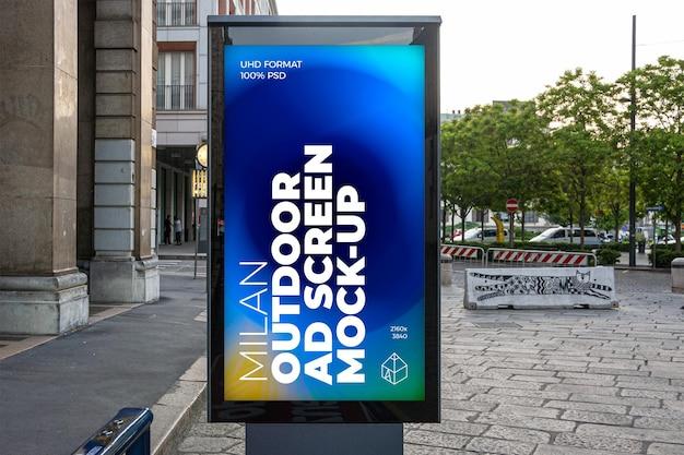 Tela de publicidade externa de milão