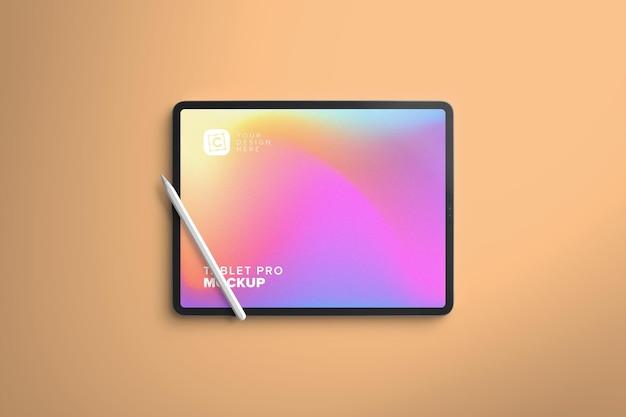Tela de tablet pro horizontal para arte digital com caneta