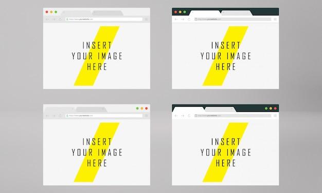 Tela do navegador mock up
