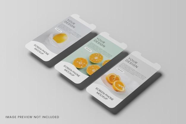 Tela do smartphone para maquete de aplicativos