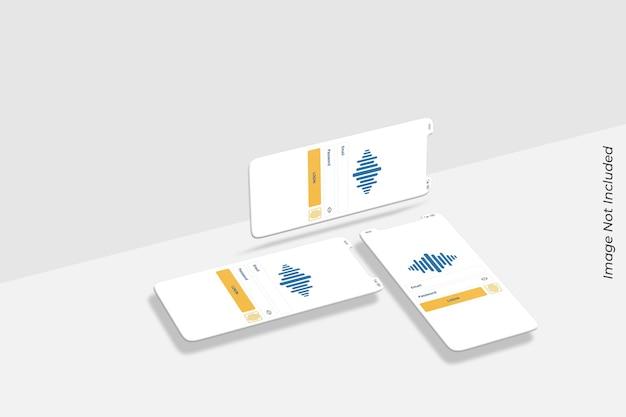 Tela do smartphone para maquete de apresentação do aplicativo ui ux