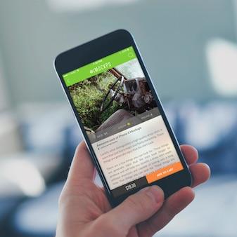 Tela do telefone móvel mock up projeto