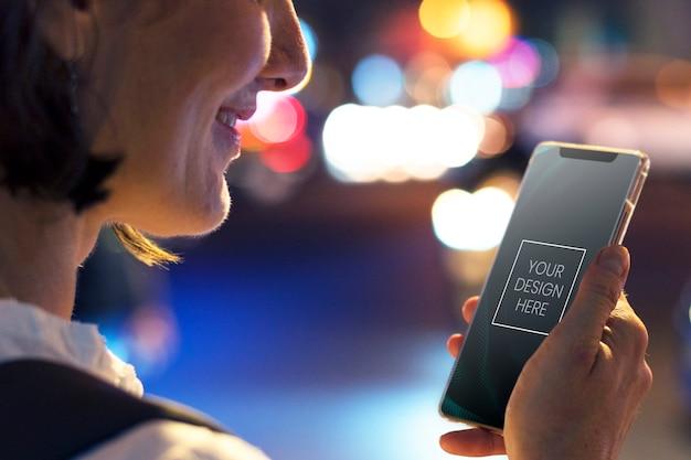 Tela em branco do telefone móvel