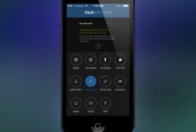 Tela estilo aplicativo para iphone