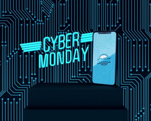 Telefone de alta tecnologia cyber segunda-feira comercial