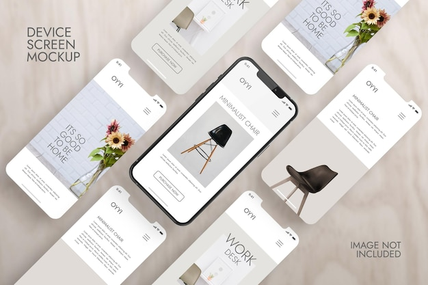 Telefone e tela - maquete de apresentação do aplicativo ui ux