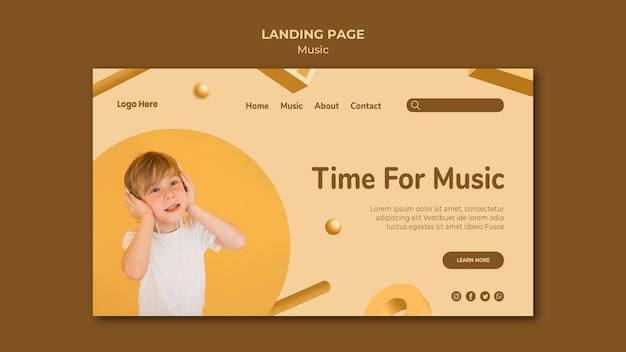 Tema da página de destino musical