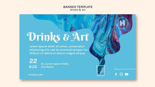 Tema de banner de bebidas e arte
