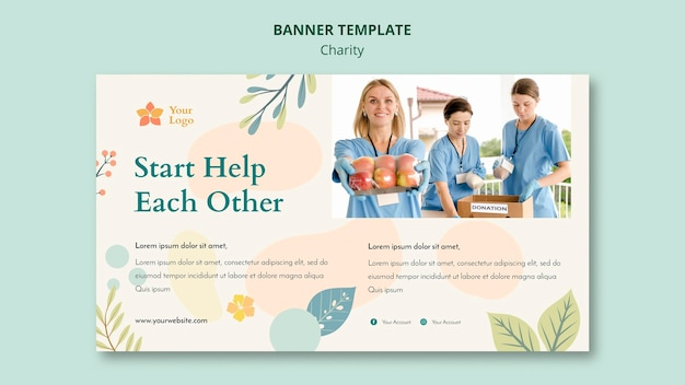 Tema de banner de caridade