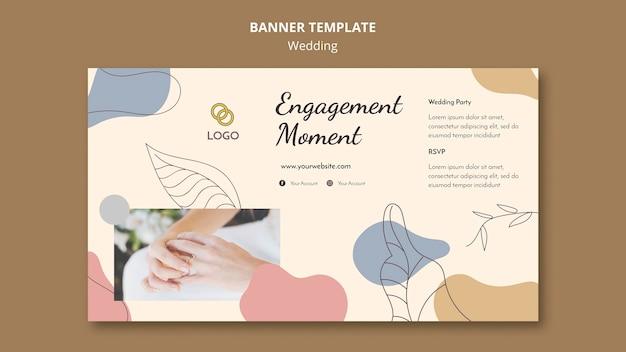Tema de banner de casamento