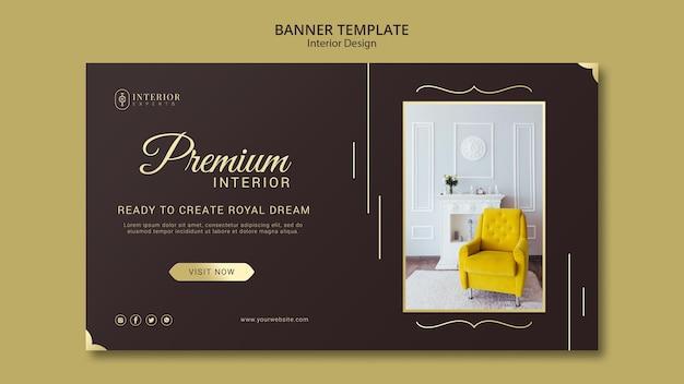 Tema de banner de design de interiores