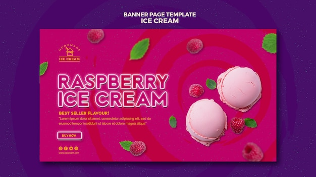 Tema de banner de sorvete