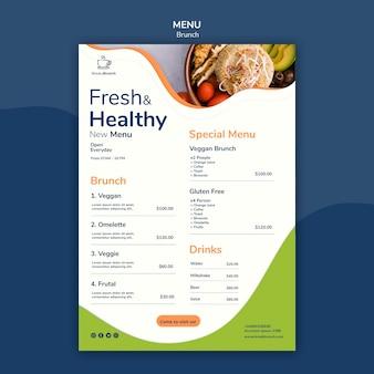 Tema de brunch para o modelo de menu