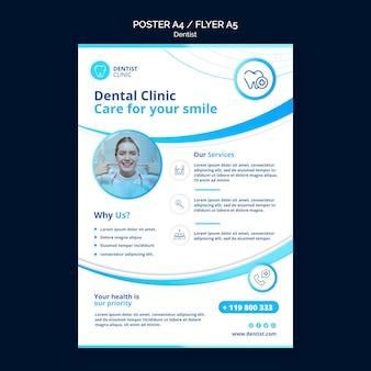 Tema de cartaz de dentista