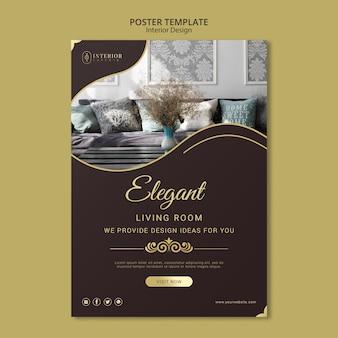 Tema de cartaz de design de interiores