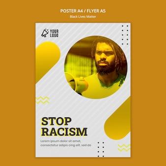 Tema de cartaz de matéria de vidas negras