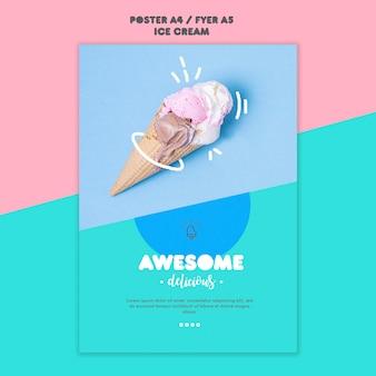Tema de cartaz de sorvete