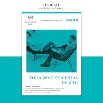 Tema de cartaz de terapia psicológica