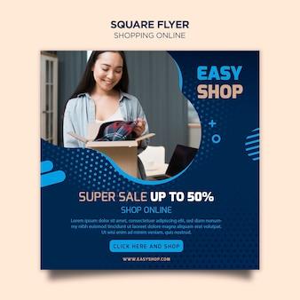 Tema de folheto on-line de compras