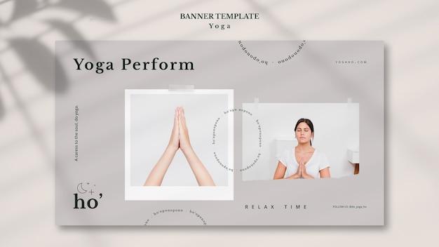 Tema de ioga para banner