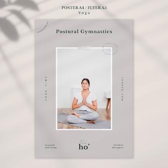 Tema de ioga para cartaz