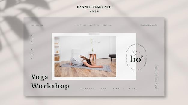 Tema de ioga para o modelo de banner
