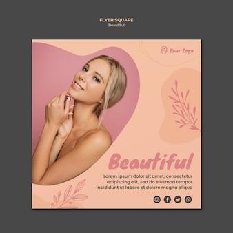 Tema de modelo de banner de beleza