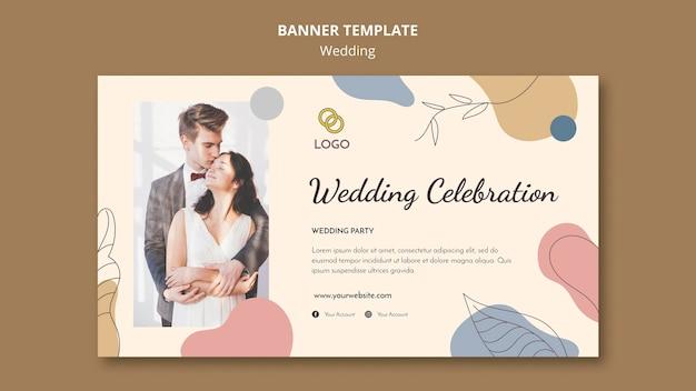 Tema de modelo de banner de casamento