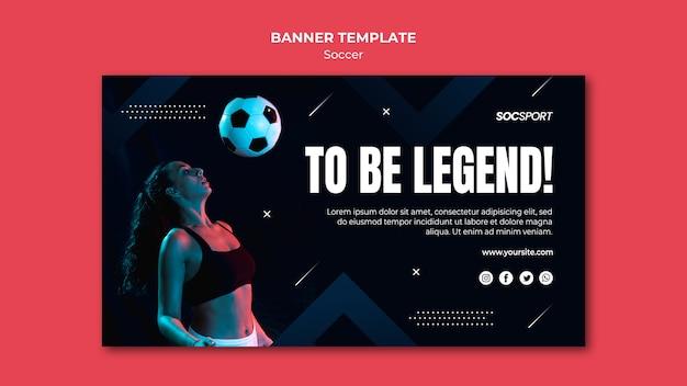 Tema de modelo de banner de futebol