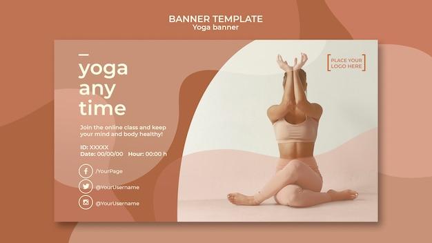 Tema de modelo de banner de ioga
