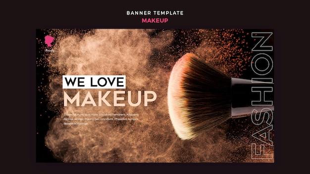 Tema de modelo de banner de maquiagem