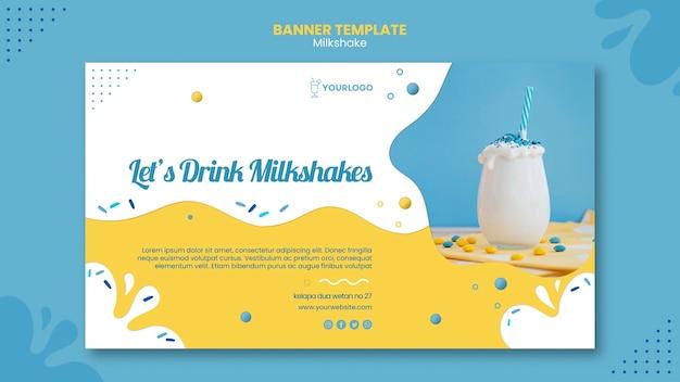 Tema de modelo de banner de milkshake