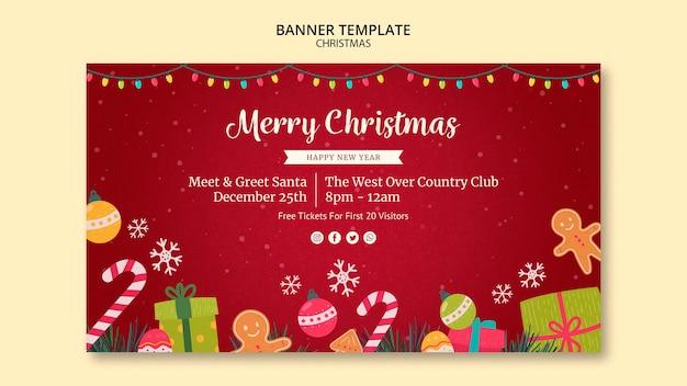 Tema de modelo de banner de natal
