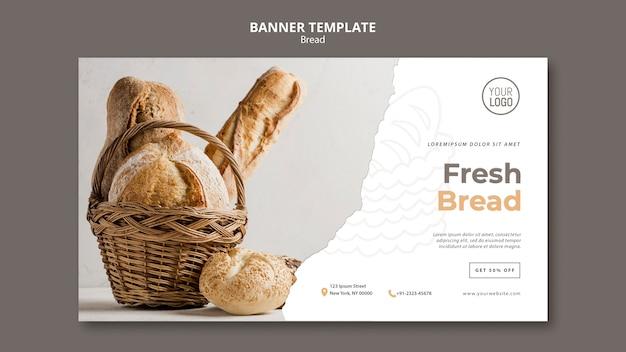 Tema de modelo de banner de pão